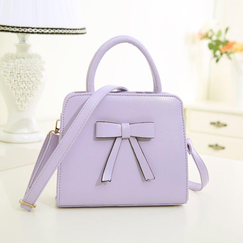 2016 Fashion PU leather women bowknot handbags shoulder bags cross-body bags small bags casual  totes messenger bag