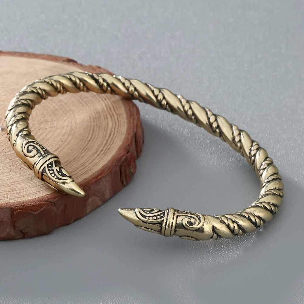 CHENGXUN פאנק גברים רייבן צמיד תכשיטי עתיק מעוות חוט שרוול ויקינג צמיד הודי תכשיטי אופנה אבזרים