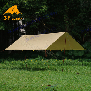 Image 3 - 4.5*5.9 meters big tarp Anti UV  210T with silver coating outdoor large shelter high quality beach awning