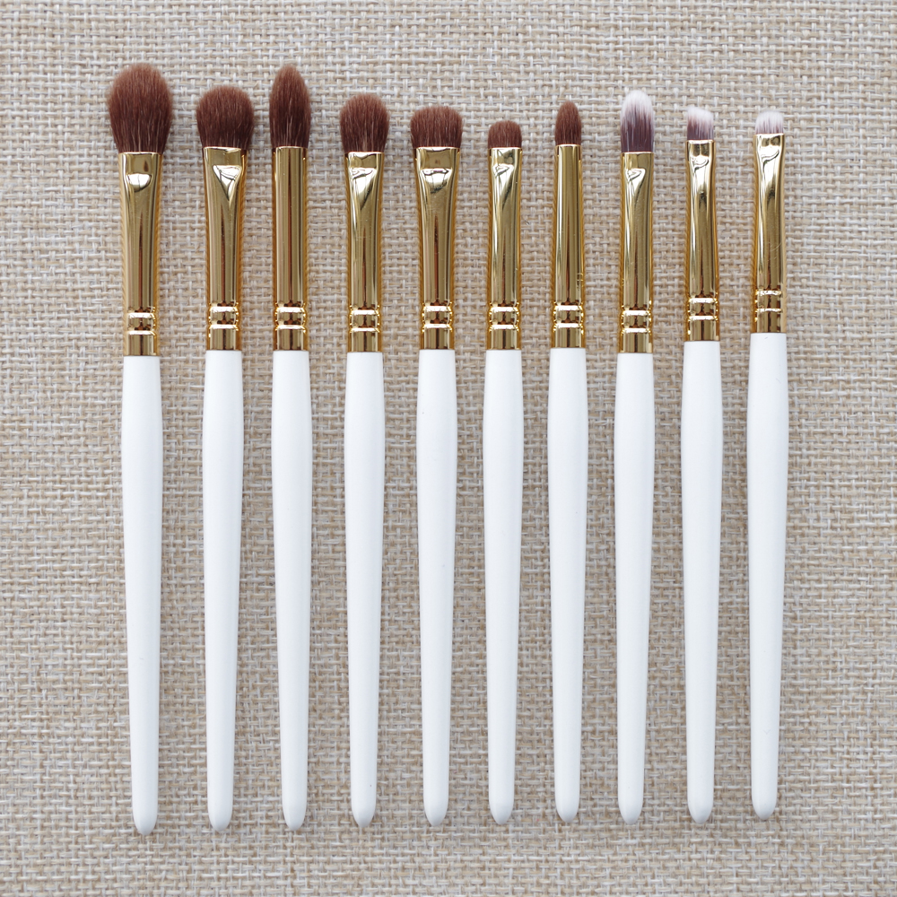 ShouShouLang 10pcs Professional Makeup Brushes Goat Hair Blender Concealer Lip Brush Cosmetic Tools Eye Shadow Make Up Brush shoushoulang w211 professional makeup brush squirrel hair eye shadow brush ebony handle cosmetic tool eye shader make up brush