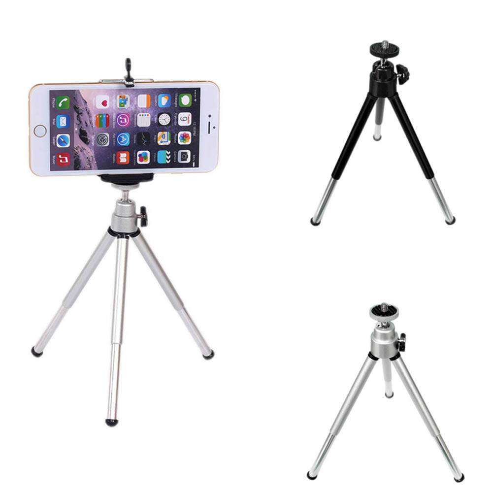 Mobile Phone Holders & Stands Protable Tripod Alloy With Quick Release Plate Rocker Arm For Phone