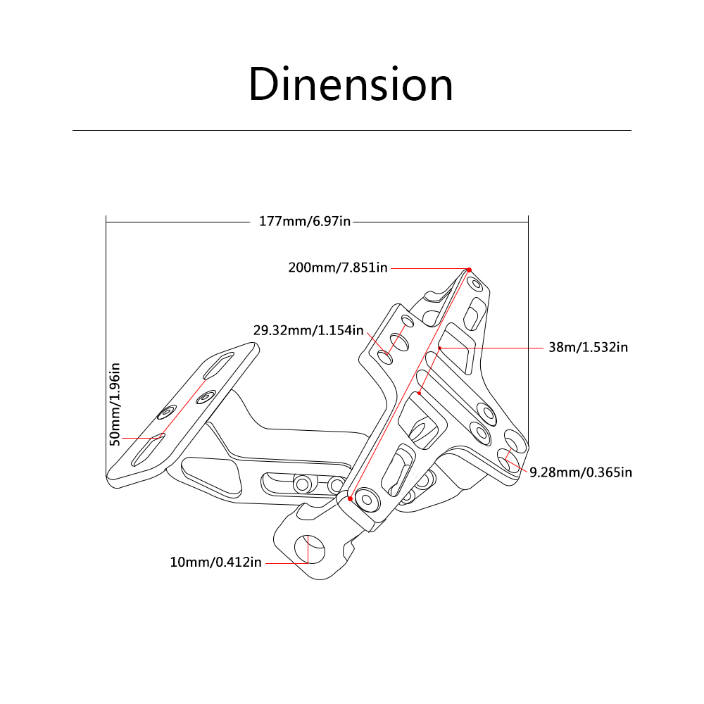 for Universal Fender Eliminator License Plate Bracket Ho Tidy Tail motorcycle accessories for Triumph Tiger 800/XC,Rocket III/
