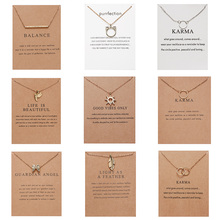 10 Styles Fashion Jewelry Women Pendant Necklace Cat Ear Angel Wings Bird Animal Circle Geometric Charm Clavicle Chains Collar fairywoo new 3 styles animal pendant necklace for women 2019 fashion cute cat jewelry gold chains handmade necklace glass beads