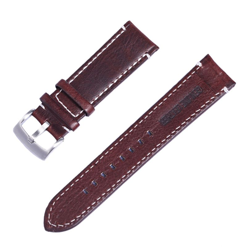 Leather Watch Strap Band Stainless Steel Buckle Wristwatch Bracelet AccessoriesLeather Watch Strap Band Stainless Steel Buckle Wristwatch Bracelet Accessories
