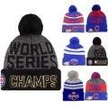 Oficial Chicago Cubs 2016 Campeones de la Serie Mundial de Punto Beanie Sombrero Gorra de 47 Marca