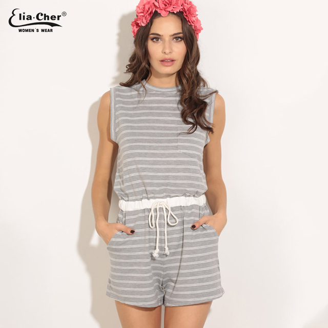 3d9b53be9a27 Women Jumpsuits Elia Cher Brand 2017 Fashion Women Rompers Plus Size Casual Women  Clothing Chic Fitness Sexy Back Rompers 8396