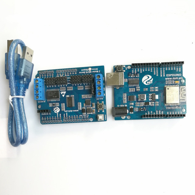 Motor&Servo controller kit,2CH Motor & 16CH Servo Drive Board ...