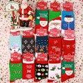 Рождественские Женщин Носки Лось Снежинка Дед Мороз Снеговик Шаблон Носок Хлопчатобумажные Среднего Трубке Носки Счастливые Новый Год женская Одежда