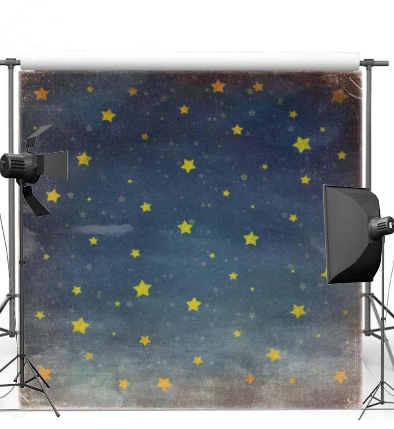 Sky Glitter Yellow Star Night photo backdrop Vinyl cloth High quality Computer printed newborn baby Photography Backgrounds paper sun white cloud colour colorful photography backgrounds vinyl cloth computer printed birthday photo backdrop