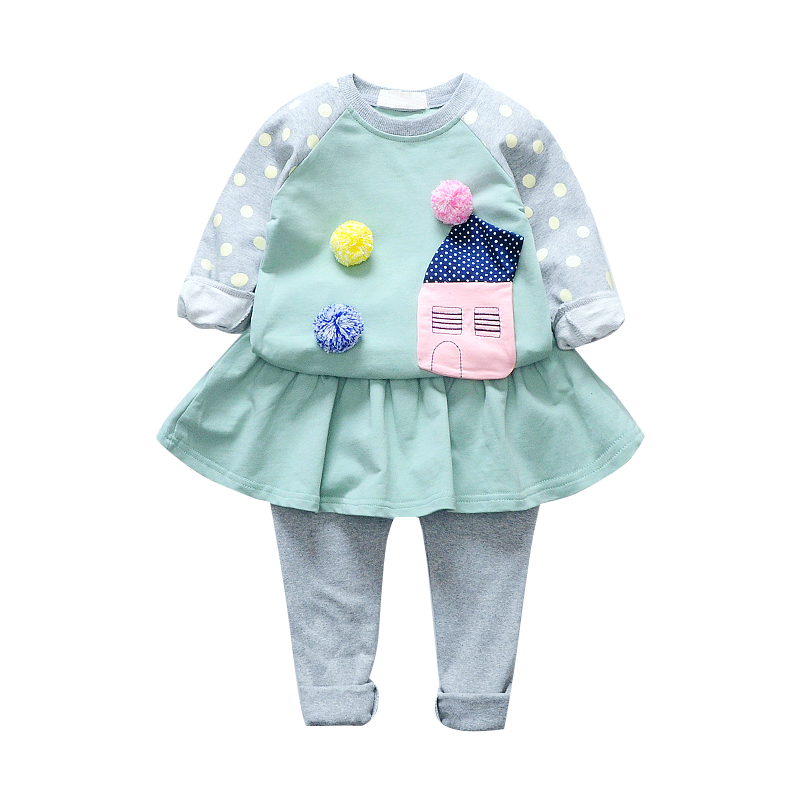 где купить Baby Kids Clothing Sets For Girls Long Sleeve Pullover T-shirts & Leggings Spring Autumn Toddlers Skirts Pants Children Outfits по лучшей цене