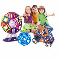 Kids Toys 85Pcs Magformers Magnetic 3D DIY Educational Toys Magnetic Creator Model Building Blocks Bricks For