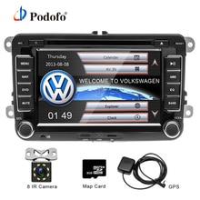 "Podofo 2 Din 7"" Car DVD Player GPS Navigation Bluetooth Radio IPOD FM RDS Map for VW/Volkswagen/Passat/POLO/GOLF/Skoda/Seat"
