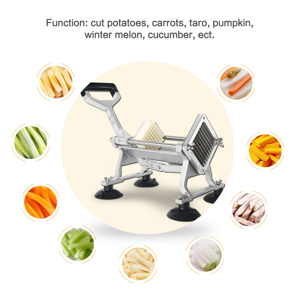 Potato Chip Cutter Machine Manual French Fries Cutter Multi function Vegetable Slicer 6 9 12MM Blade Kitchen Food Processor in Manual French Fry Cutters from Home Garden