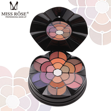 MISS ROSE 57 color flower petals make-up tray 43 eyeshadow 4 eyebrow powder blush lipstick 2  cake