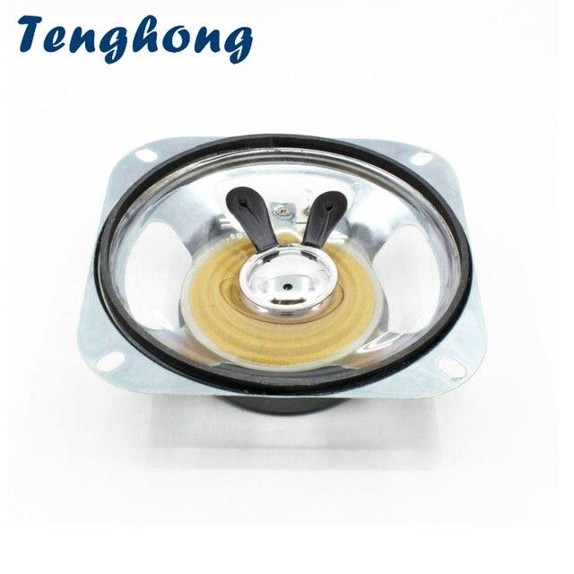 Tenghong 1pcs 4 Inch Portable Audio Speaker 8Ohm 10W 102MM Transparent Waterproof Speaker Unit Anti theft Electronic Loudspeaker