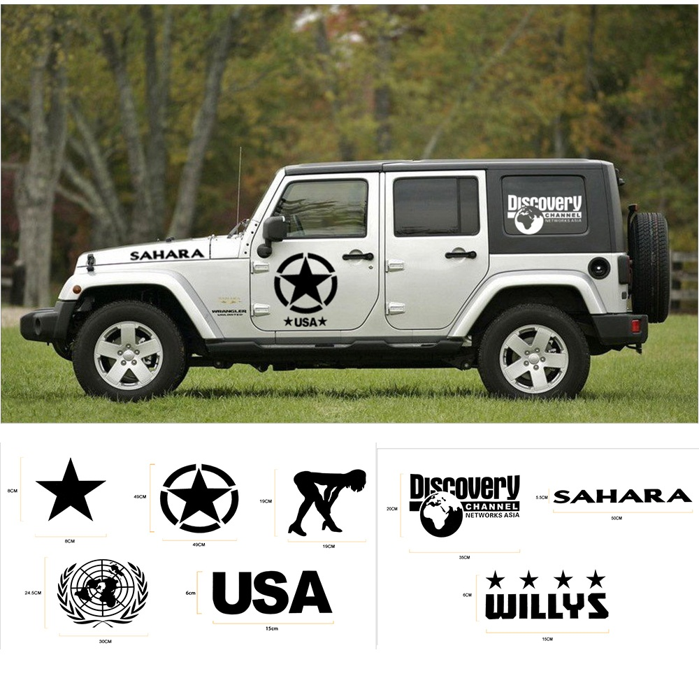 MOPAI Car Body Creative Sticker Whole Body Decal Stickers for Jeep Wrangler/for Ford/KIA/Volkswagen/for Suzuki Car Accessories