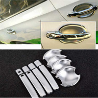 Non Rusty Chrome Door Handle Bowl Cover Cup Overlay Trim For VW Santana 2013 2016
