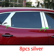 8pcs for MG HS Mid-column decorative Stainless steel