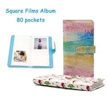 80 Pockets Photo Album Fujifilm Instax Square Films Instax SQ20 SQ10 SQ6 SQ1 SP-3 Instant Camera Photo Book Album