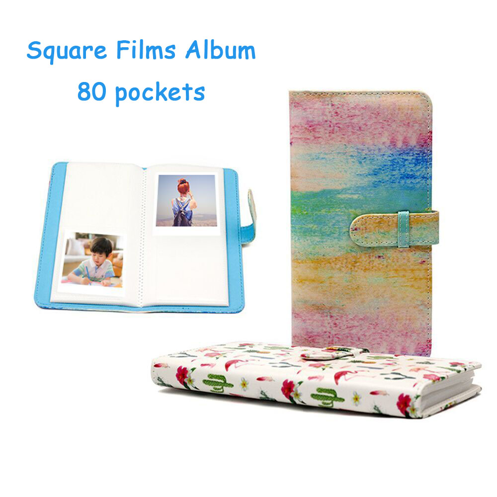 80 poches Photo Album Fujifilm Instax Carré Films Instax SQ10 SQ6 SP-3 Appareil Photo Instantané Photo Livre Album