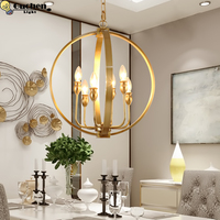 Gold Led copper Lamps Chandeliers Living Room fixtures table hanglamp Holtel shop home modern Loft Luminaria light E14