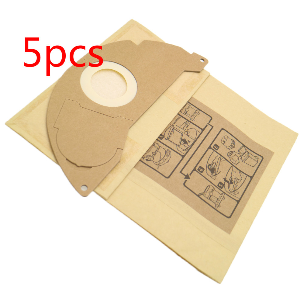 5 Pieces Vacuum Cleaner Paper Filter Bags Dust Bag Replacement For Karcher A2000 Series WD2.250 6.904-322.0