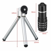 Camera Lenses Telescope Tripod Bluetooth Shutter Phone Lens Kit HD 12x Zoom Telephoto Lentes For IPhone