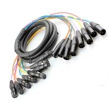 Высокое качество, 8 комплектов в партии, канал 3 Pin XLR Сделано в Китае змея кабель мужского и женского пола удлинитель аудиошнур м/ф