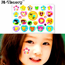 M-Theory Cute Cartoon Body Makeup Temporary 3d Tattoos Sticker Henna Tatto Flash Tatoos Stickers Swimsuit Maakeup Tools
