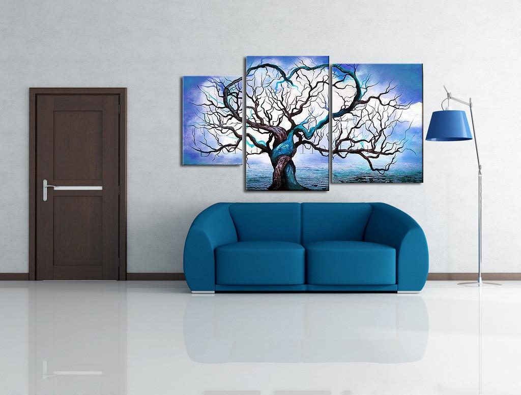 Aliexpresscom Buy Hand Painted Canvas Oil Paintings Blue Ocean