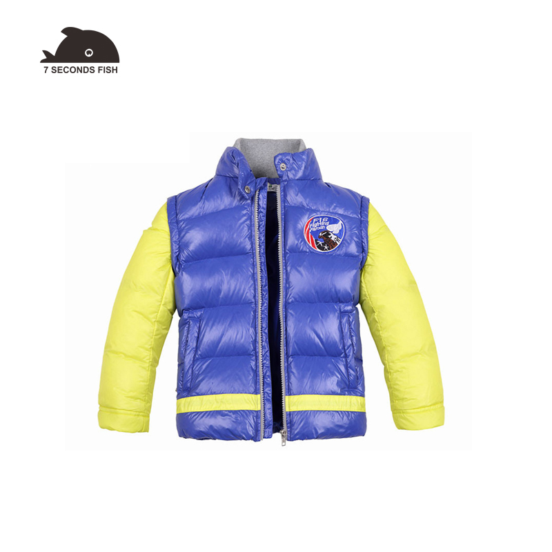 boy winter jacket coat 2018 parka coats fashion duck down double layer collar winter baby clothing for 3-11 year kids jacket curren m8113