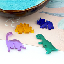 6pcs acrylic animal dinosaur drop earrings for women cute mobile phone bag pendant diy handmade jewelry accessories material