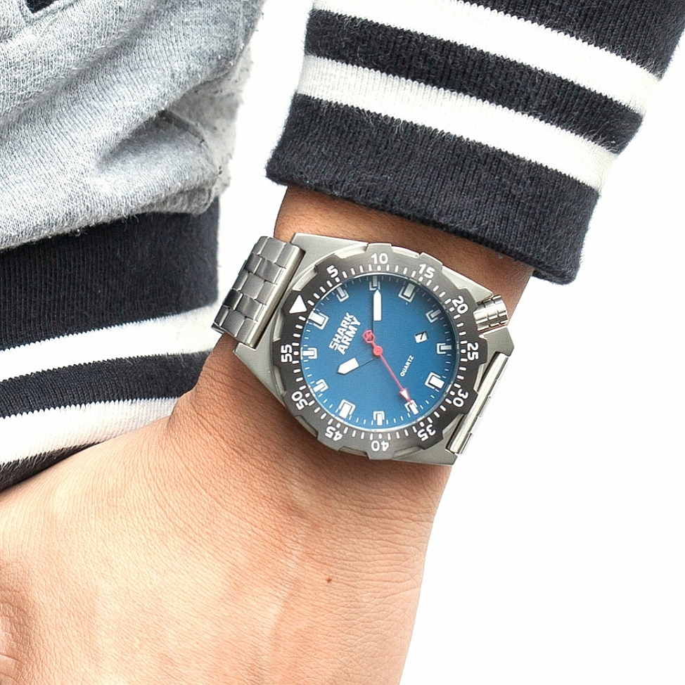 Shark Army Top Brand Man Watch Luminous 10ATM Water Resistant Blue Surfing Military Full Steel Quartz Sport Wristwatches /SAW188 22