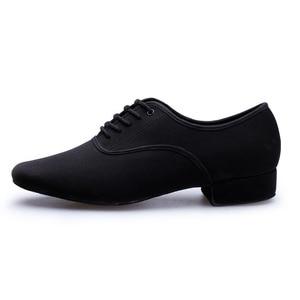 Image 2 - BD61 Professionale Nero Tacco 2.5 cm Oxford Piazza BD Scarpe Da Ballo sala da ballo Latino scarpe da ballo di cuoio degli uomini