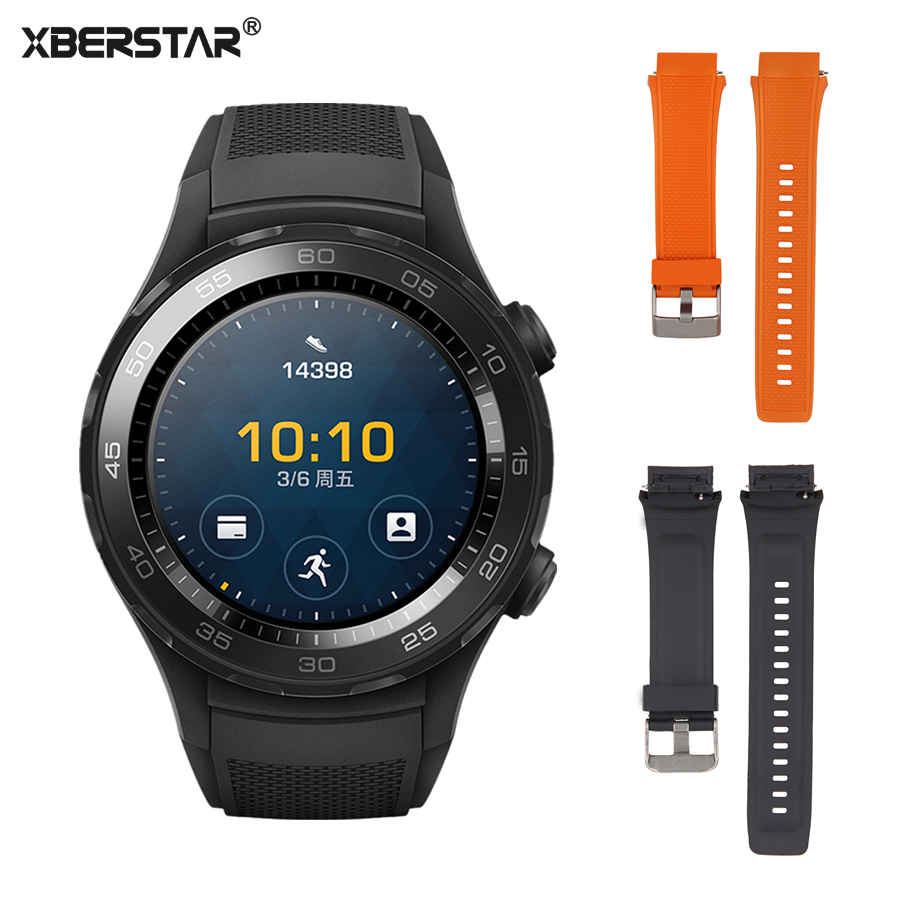 XBERSTAR Strap Watchband for HUAWEI Watch 2 Sport Android Wear 2.0 Smart watch Quick Release TPE WatchBand Wrist Strap цена