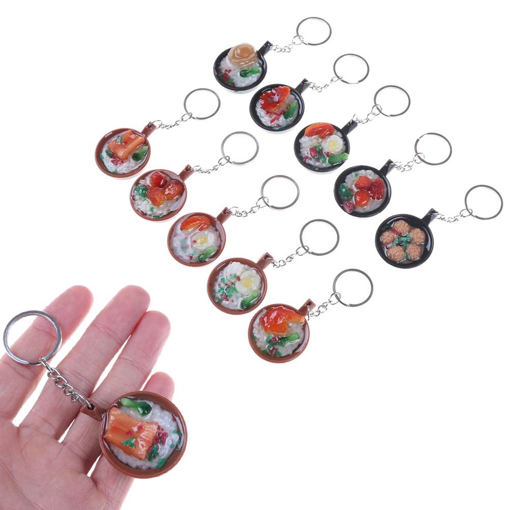 Cute Keychain Simulation Food Pendant Key Ring Novelty Key Chain Christmas Birthday Gift High Quality