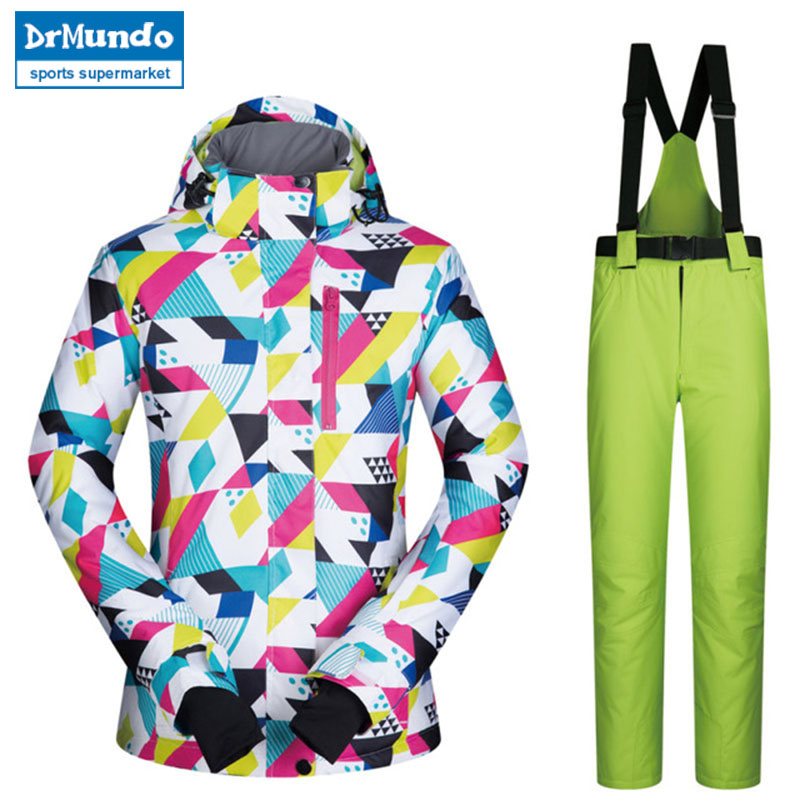 2018 New High Quality Brands Ski Suit Women Windproof Waterproof Warmth Snowboard Jacket And Snow Pants Set Winter Sports2018 New High Quality Brands Ski Suit Women Windproof Waterproof Warmth Snowboard Jacket And Snow Pants Set Winter Sports