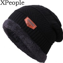 XPeople Mens Winter Beanies Hat Soft Lined Thick Wool Knit Skull Cap Warm Fleece Ski Slouchy for Men & Women