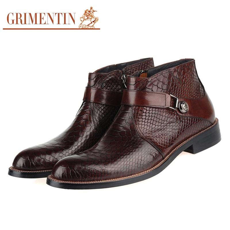 Aliexpress Com Buy Grimentin Men Boots Genuine Leather