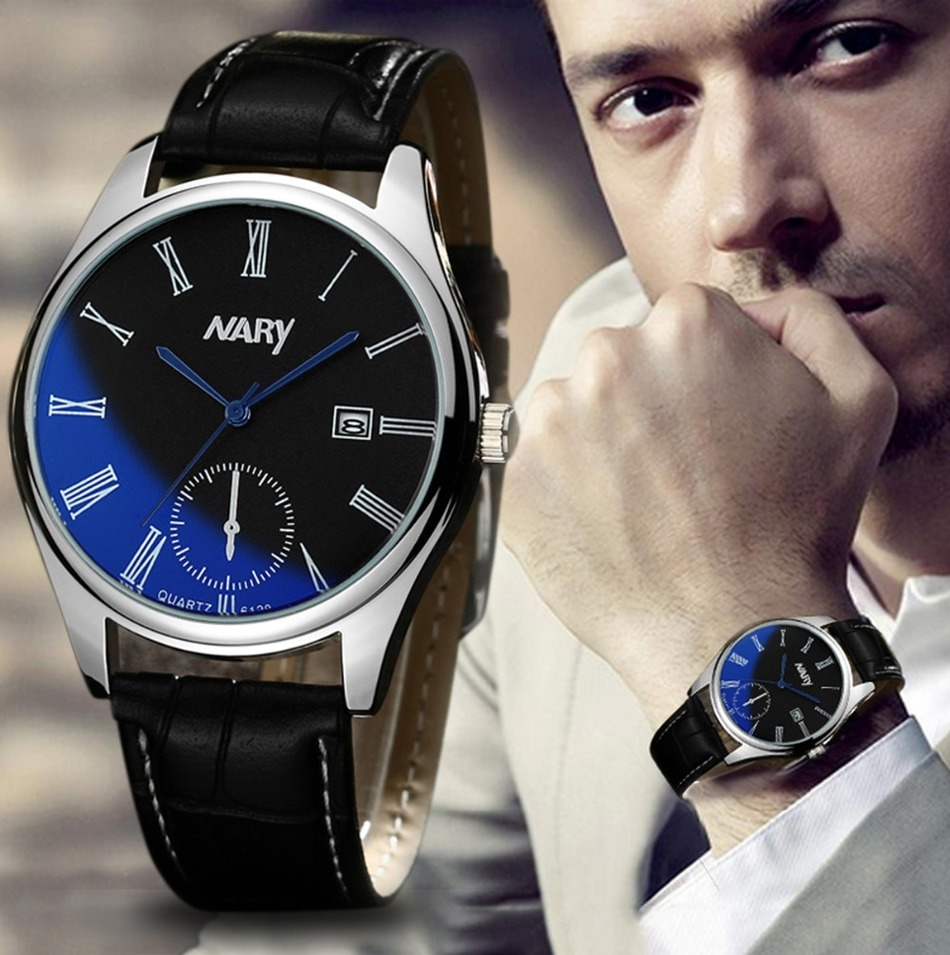 NARY relogio masculino watch men quartz watch luxury Business Casual men watches relogio masculino montre homme