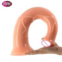 FAAK лошадь фаллоимитатор, игрушки для интима 17,2 дюйма длиной фаллоимитатор гигант плоть пенис большой фаллоимитатор для Для женщин животног...