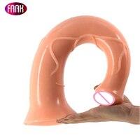 FAAK Horse Dildo Sex Toys 17.2 Inch Long Dildo Giant Flesh Penis Big Dildo For Women Animal Lesbian Vagina Anus Massage