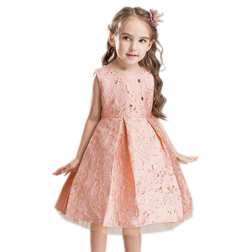 2019 European and American children 39 s costumes hot stamping embroidered dress princess birthday party host flower girl dress in Girls Costumes from Novelty amp Special Use