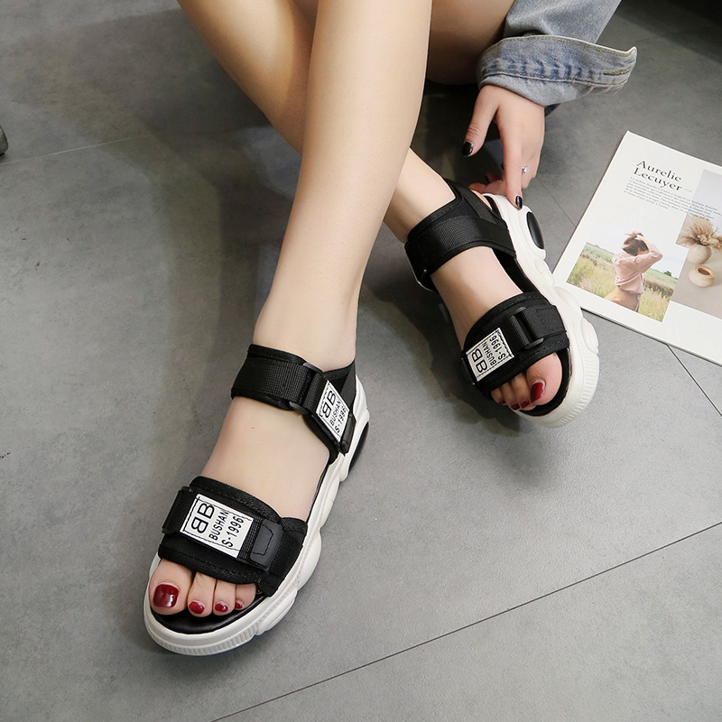 Summer Sandals For Men And Women Students Korean Version Of The Wild Non Slip Comfortable Thick Soled Bear Shoes