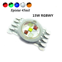 High Power LED Chip 15W RGBWY 45mil Red Green Blue White Yellow COB Supper Bright 10