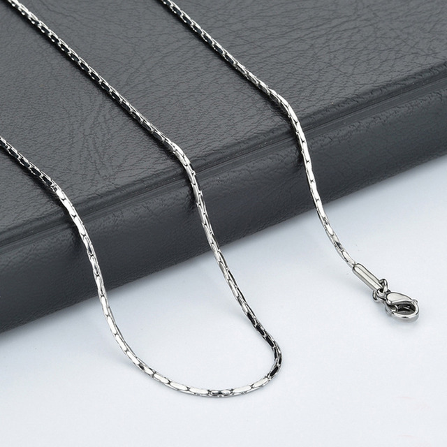 "10pcs Womens Jewelry Wholesale Silver 316L Stainless Steel Thin Chain Necklace for Girl 1mm16""-24"""