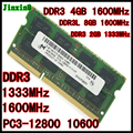 Original notebook DDR3L RAM 4 GB 8G 2 GB DDR3 1600 1333 Laptop 2G 4G PC3-10600 8 GB 2Rx8 pc3-1066 PC3L-12800 Compatível 1067 memória