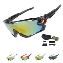 COMAXSUN Professional Polarized Cycling Glasses Bike Goggles Driving Fishing Outdoor Sports Sunglasses UV 400 3 Lens  6 color