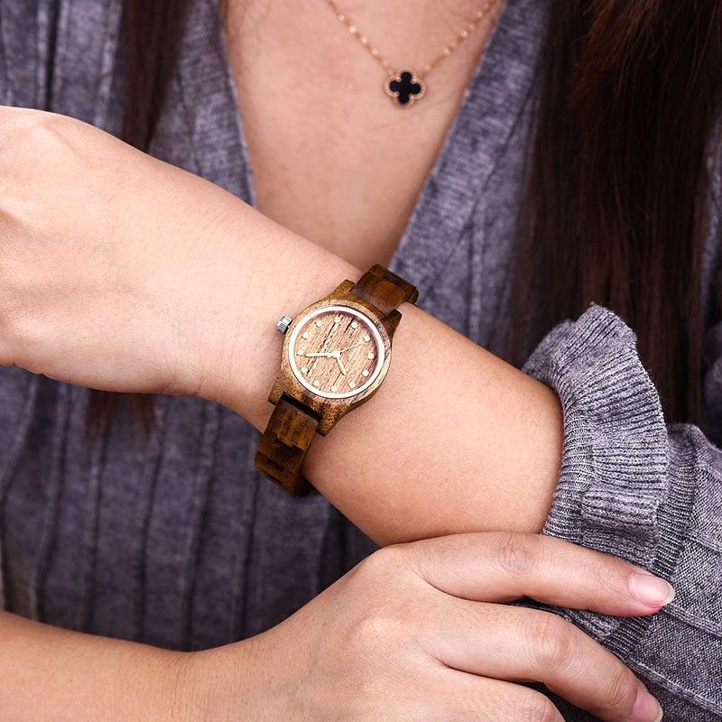 New Design Women Brown Wooden Watch Luxury Brand Top Gift 5