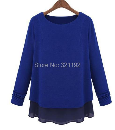 Female High Quality Candy Spring Summer Plus Size Chiffon Loose Blouse Hedging Casual Chiffon Long Sleeve Shirts Lady Tops